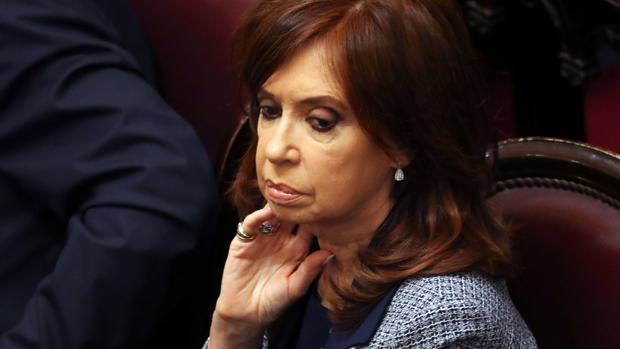 Cristina Fernández, en una sesión del Senado el pasado agosto