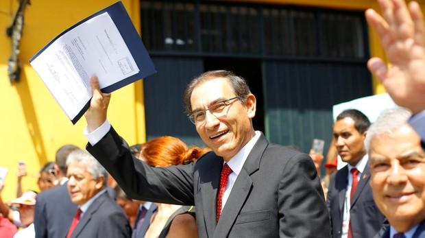 El presidente Martín Vizcarra tras declarar el estado de emergencia en la Fiscalía del Estado