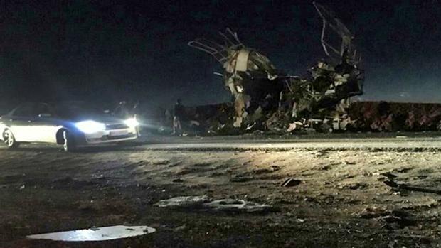 Imagen distribuida de la agencia oficial iraní, Fars, del lugar del atentado en el suroeste del país