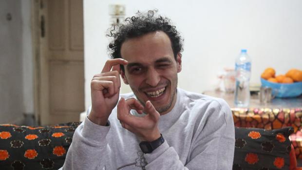 El fotoperiodista egipcio Shawkan, en su casa en Guiza