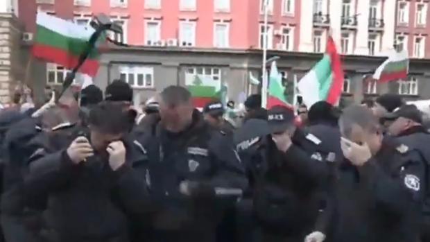 Un grupo de policías de Bulgaria afectados por gas pimienta