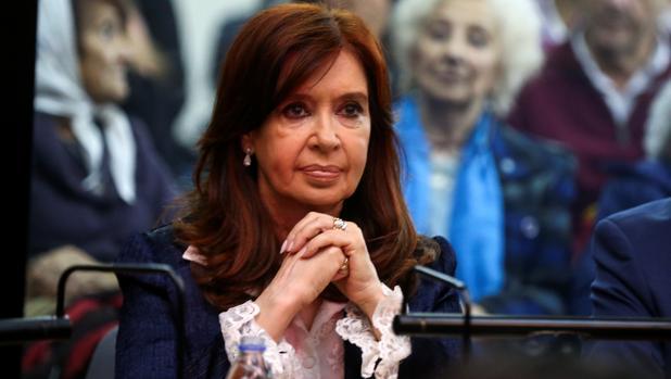 La expresidenta de Argentina Cristina Fernández, antes del inicio de un juicio por corrupción en Buenos Aires
