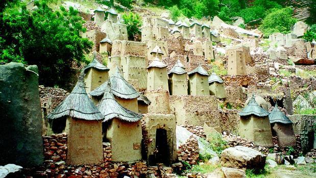 Imagen de archivo de un poblado «dogon»
