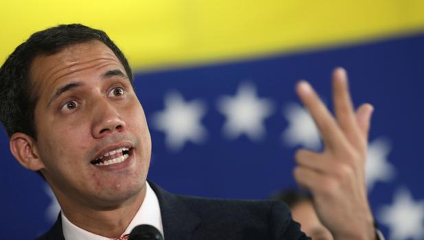 El presidente interino de Venezuela, Juan Guaidó, este lunes en Caracas