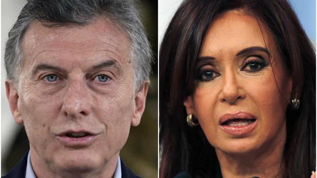 Mauricio Macri, actual presidente argentino, y Cristina Fernández de Kirchner, jefa de Gobierno entre 2007 y 2015