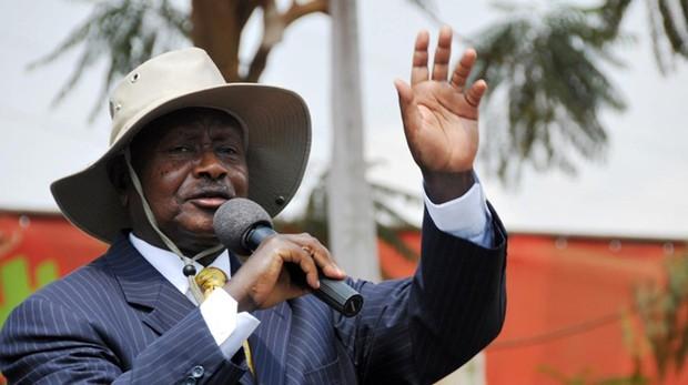 El presidente ugandés, Yoweri Museveni