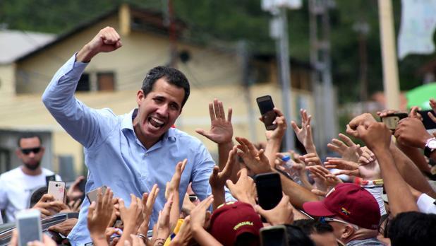 El presidente interino, Juan Guaidó en Tovar, Venezuela