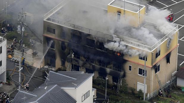 El estudio de animación Kyoto Animation, tras el incendio
