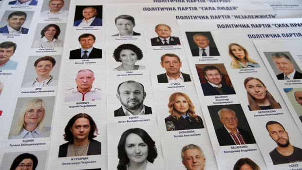 Candidatos a las legislativas en Ucrania