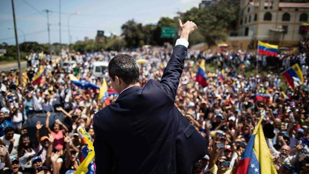 El presidente interino de Venezuela, Juan Guaidó