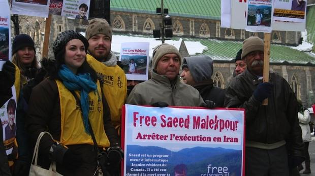 Manifestación a favor de la liberación de Saeed Malekpour