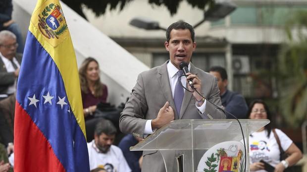 Juan Guaidó durante una intervención