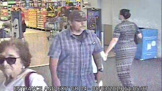 Imagen de una cámara de videovigilancia difundida por la Policía de El Paso