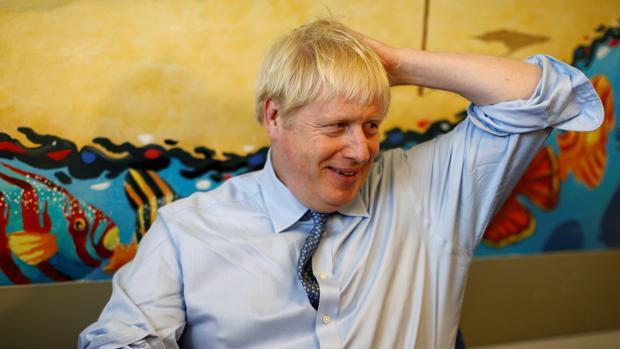 El primer ministro británico, Boris Johnson, ayer
