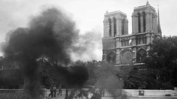 La catedral de Notre Dame el 23 de agosto de 1944