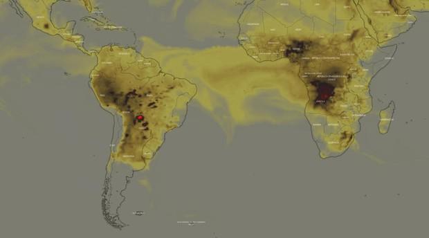 Hay más incendios activos en África central que en la Amazonia