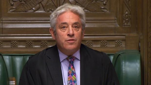 El «speaker» de la Cámara rechaza votar hoy el acuerdo del Brexit y el Gobierno prevé que sea el jueves