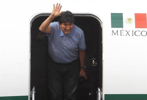 Evo Morales, esta semana a su llegada a México