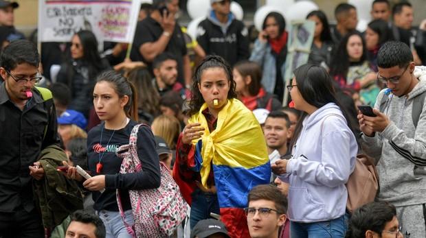 Las protestas sociales llegan ahora a Colombia: comienza la gran marcha contra Iván Duque