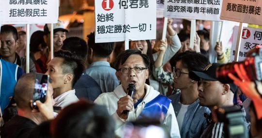 El candidato Junius Ho