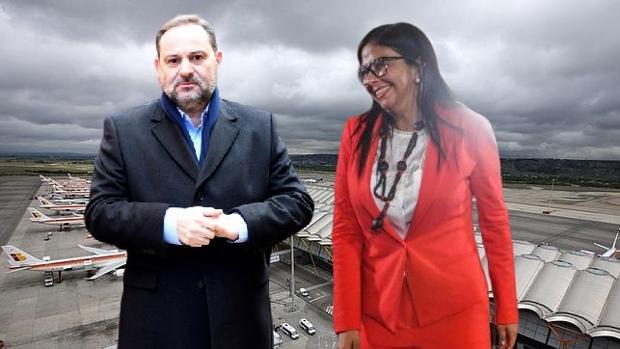 Aseguran que Ábalos se reunió en Barajas con la vicepresidenta de Maduro, pero el ministro lo niega