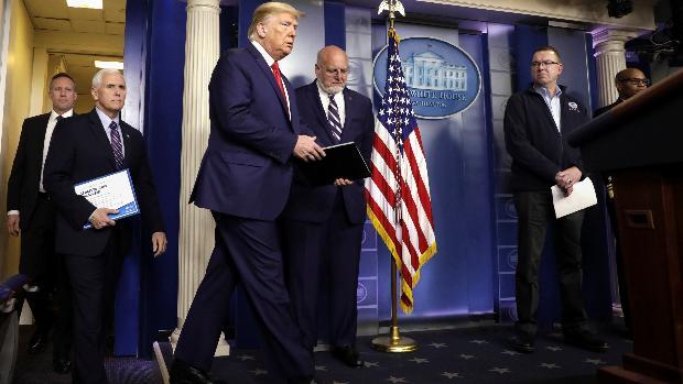 Trump anuncia el despliegue de la Guardia Nacional para combatir el coronavirus
