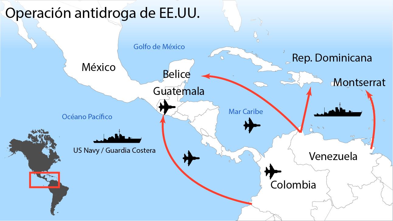 Así es el despliegue militar de EE.UU. frente a Venezuela