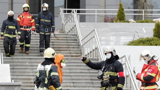 Cinco muertos en el incendio de una UCI con pacientes de coronavirus en San Petersburgo
