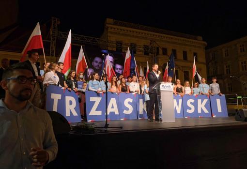 El otro candidato, Rafal Trzaskowski, de la plataforma Ciudadanos Libres