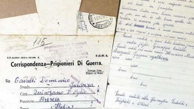 Los familiares de un soldado italiano de la IIGM reciben 80 años después una de sus cartas