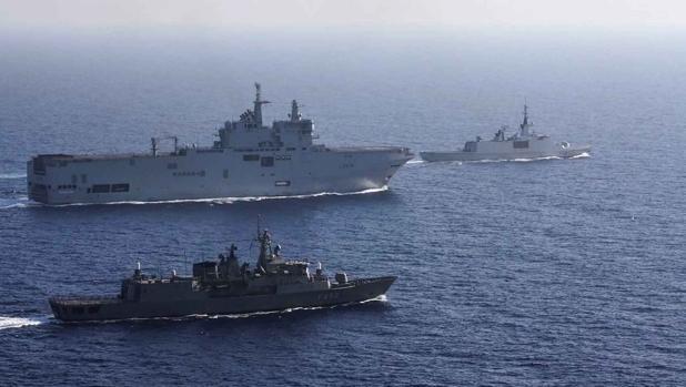 Advertencia a Turquía: maniobras conjuntas de Grecia, Francia, Italia y Chipre en el Mediterráneo oriental