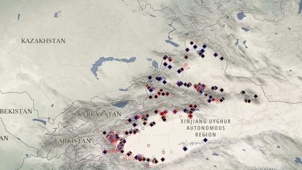 China ha construido 380 campos de internamiento en Xinjiang en los últimos tres años