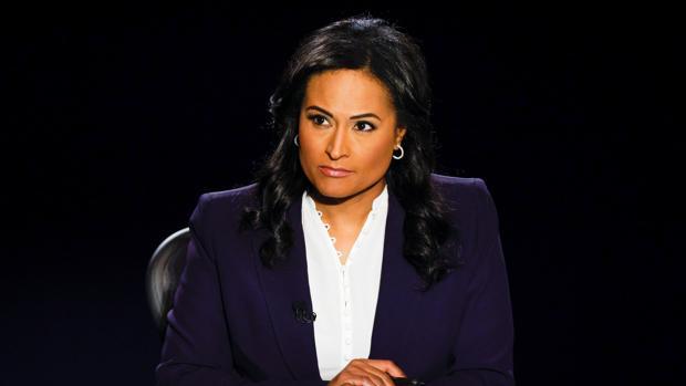 La moderadora Kristen Welker, la estrella de la noche del debate presidencial