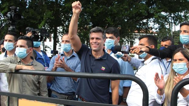Leopoldo López clama por la libertad de Venezuela en la frontera colombiana