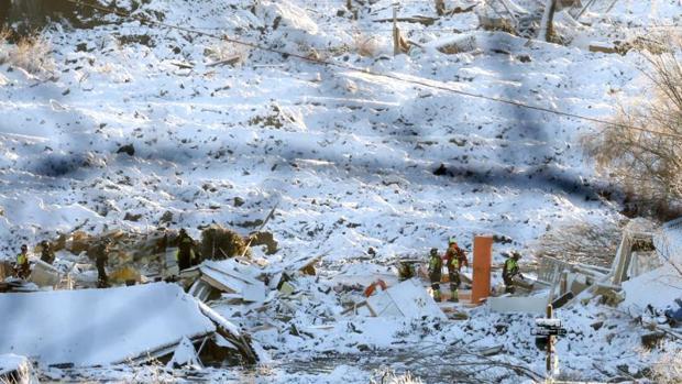 Ascienden a siete los muertos tras el corrimiento de tierra que se tragó doce casas en Noruega