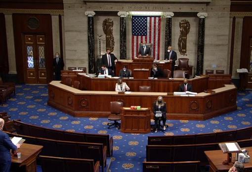 Un momento del debate del «impeachment» en la Cámara de Representantes