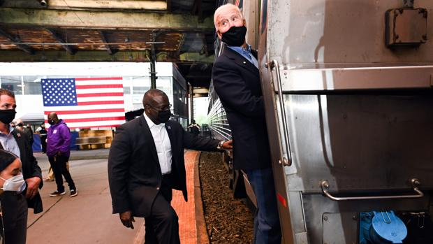 El último tren de Biden desde Wilmington a Washington