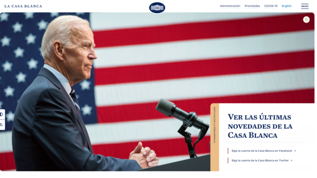 El español regresa a la web de La Casa Blanca