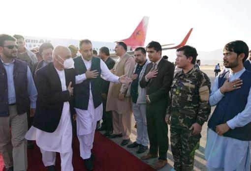 El presidente afgano, Ashraf Ghani, esta semana en Mazar-i-Sharif