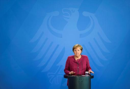 Angela Merkel, during the G-7
