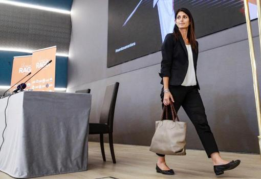 The until now mayor of Rome, Virginia Raggi, while waiting for the electoral result