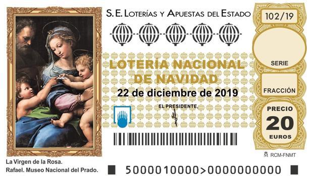 Imagen del décimo de Lotería de Navidad 2019