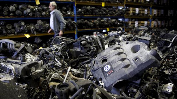 Motor TDI en un desguace de Bosnia