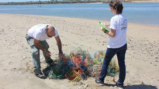 Limpieza de basura marina con la Asociación Chelonia