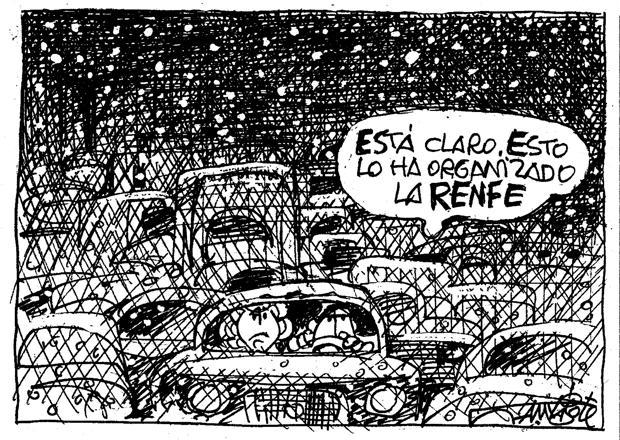 La huelga de RENFE según Mingote