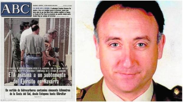 Portada de ABC que informa del asesinato de Francisco Casanova, a la derecha