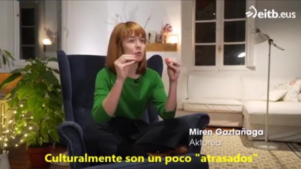 Captura de imagen de Miren Gaztañaga en el programa de la ETB