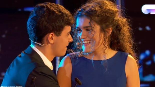 Alfred y Amaia durante su actuación en «OT 2017»