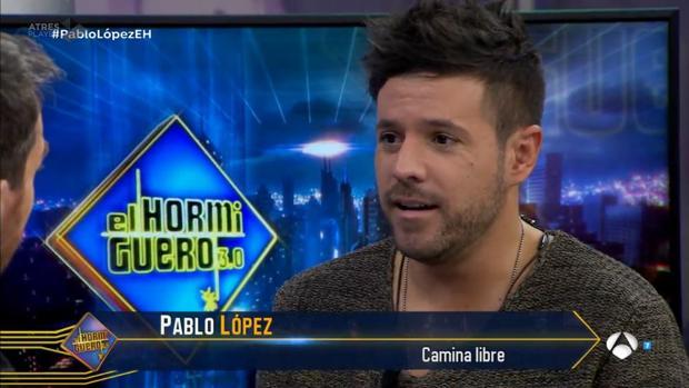 Pablo López durante su visita a «El Hormiguero»
