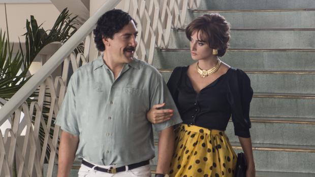 Javier Bardem y Penélope Cruz como Pablo Escobar y Virginia Vallejo